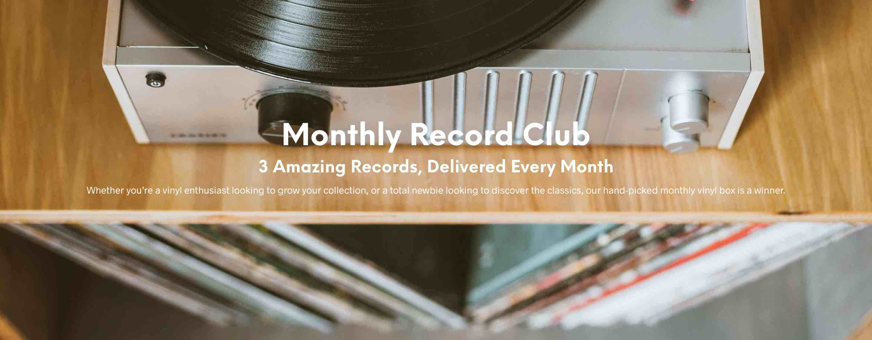 Monthly Record Club 3 Hand Picked Lp S Every Month The